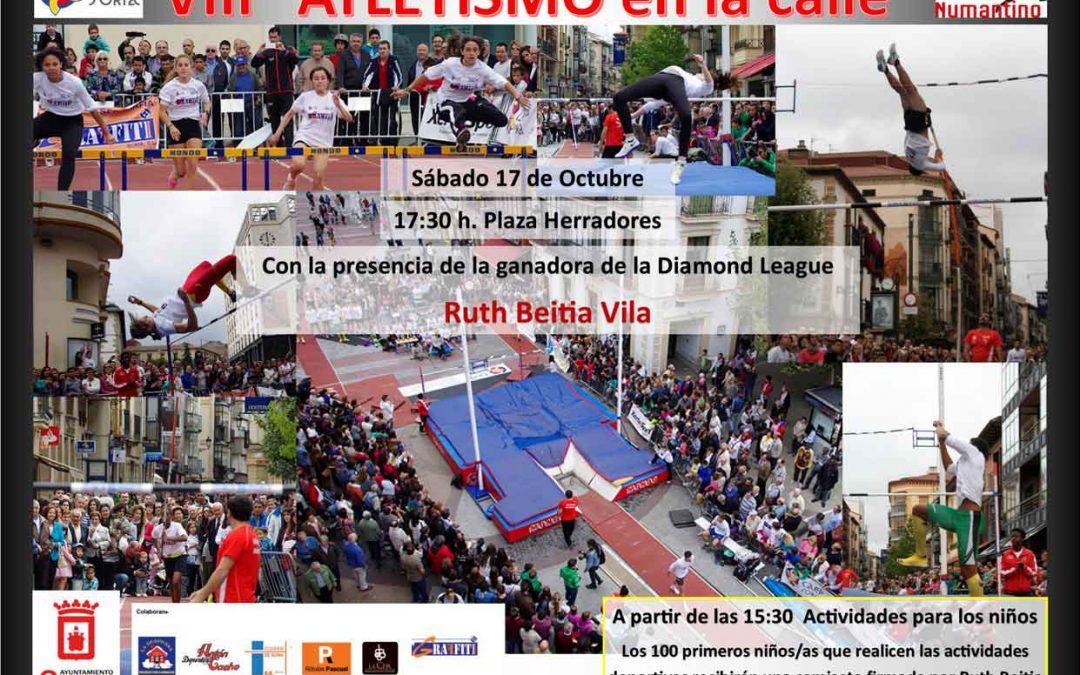 """Cambio de fecha """"Atletismo en la calle"""". Con la presencia de Ruth Beitia"""