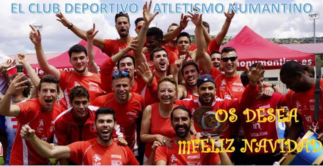 El Club Deportivo Atletismo Numantino les desea FELIZ NAVIDAD